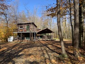 Cabin in the Woods AirBnB rental at the heron campground