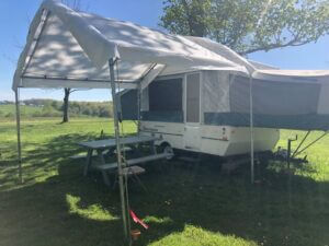 pop up camper rental at the heron campground