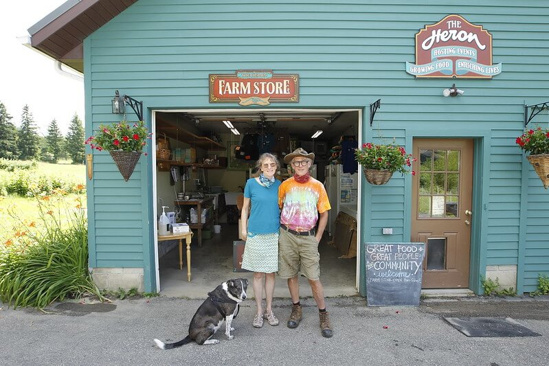 Julie and Steve Rockcastel at The Heron Farm Store