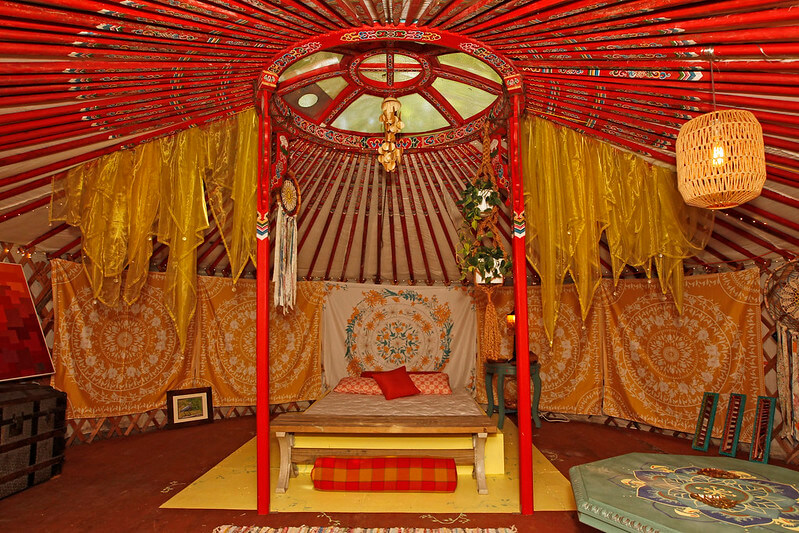 sanctuary yurt at the heron campground