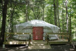 sanctuary Yurt AirBnB rental at The Heron
