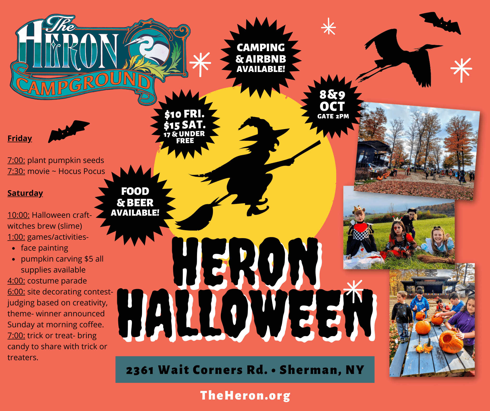 Halloween Party at the Heron