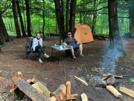 primitive woos camping at The Heron Campground